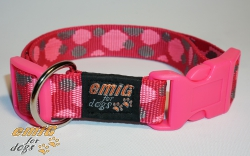 NE Hunde Halsband points pink 2,5cm