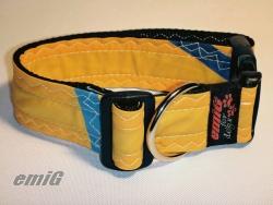Unikat Hundehalsband yellow/blue
