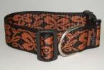 NE Hunde Halsband flower orange 4cm