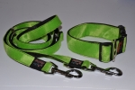 Fellhalsband neon green frog