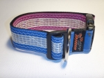 Unikat Hundehalsband windsurf violett/blau2