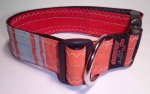 Unikat Hundehalsband retro orange XL