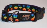 NE Hunde Halsband points rainbow 2,5cm