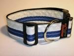 Unikat Hundehalsband white/blue