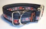 Unikat Hundehalsband Miss Ling black ALU XL