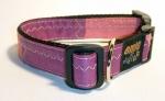 Unikat Hundehalsband purple/pink M