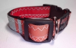 Unikat Hundehalsband retro orange S
