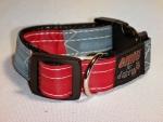 Unikat Hundehalsband blue/red S