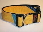 Unikat Hundehalsband yellow/blue