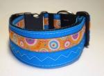 Unique collar blau farbenmix XL