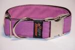 LE Hunde Halsband jeans lila