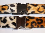 Fellhalsband leopard brown