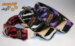 Fellhalsband zebra purple