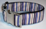 LE Hunde Halsband purple stripes